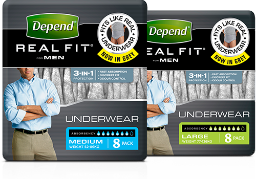 Depend Real Fit Men