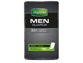 Depends Shields and Guards for Men